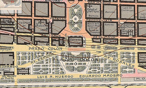 Map of Buenos Aires 1916