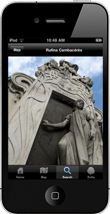 Recoleta Cemetery iPhone app